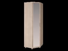 Шкаф угловой с зеркалом 27 «Ирис» Бодега светлый
