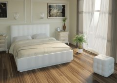 Кровать «Лорена» Кровать двуспальная+орт.осн (без страз) Boom Ice